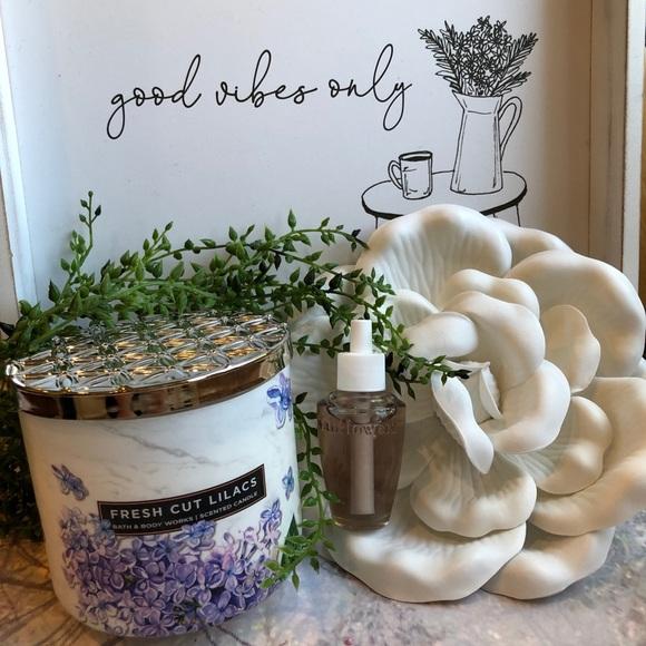 Bath & Body Works Other - Bath & Body Works 3Wick Fresh Cut Lilac Candle Set
